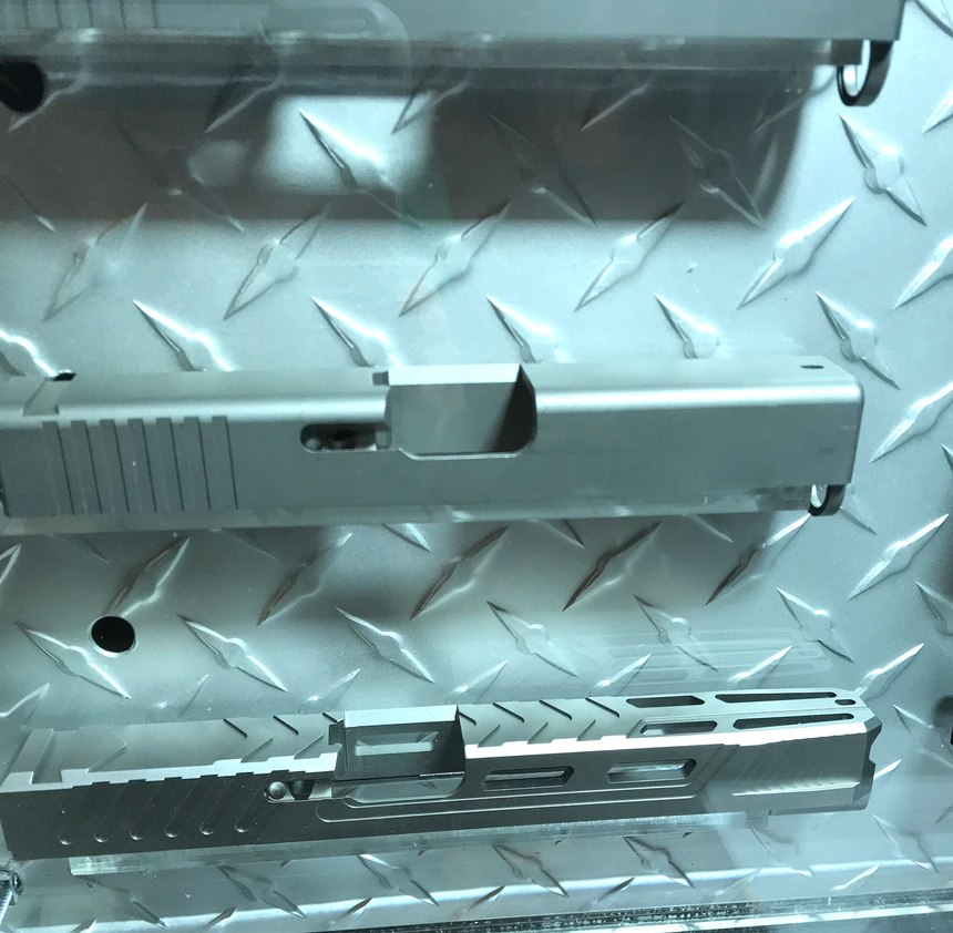 Lone Wolf can customize a slide, based on customer specifications. It is ready to ship usually within a day or so, giving the officer very little delay for a custom slide.