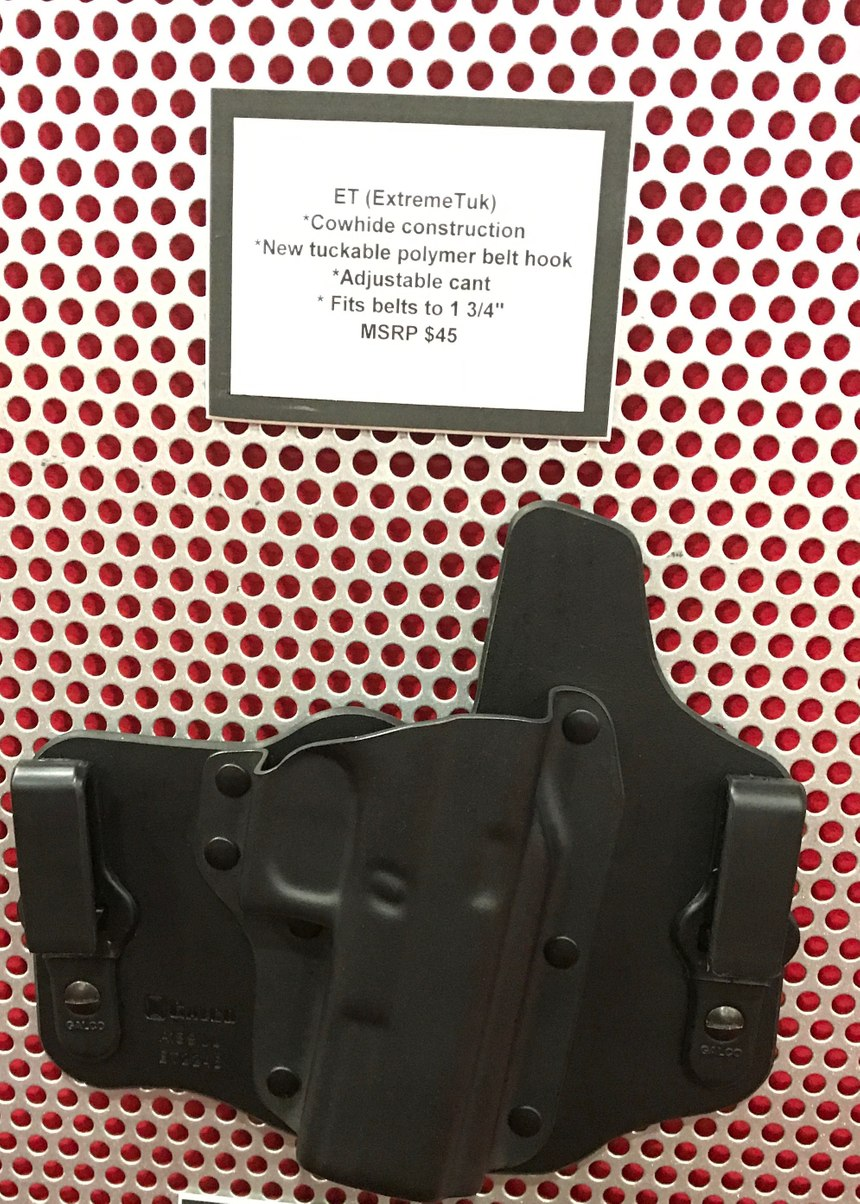 The ExtremeTuk by Galco is the cowhide version of the KingTuk, a concealed carry system for full-sized guns. The cowhide brings the MSRP down to $45. (Photo/PoliceOne)