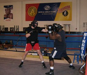The author, sparring at the Tacoma Boxing Club, September 2010. (PoliceOne Image)
