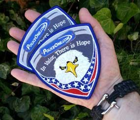 Wherever I go, I carry a couple PoliceOne patches in my pocket. I do this so I can hand them to the coppers I meet in my travels. Today, I put one patch in an envelope and sent it to Colorado, and another in an envelope now en route to Massachusetts. (PoliceOne Image)