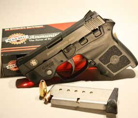 The S&W Bodyguard checks out at 12.3 ounces empty and 14.7 ounces with a full load of seven (six plus one) of Black Hills Ammo's 90 grain hollow points. (PoliceOne Image)