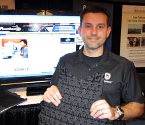 The Cooling and Trauma Attenuating Vest is a thermo-regulating and blunt-trauma attenuating panel that goes behind tactical and concealable body armor. (C1 Image)