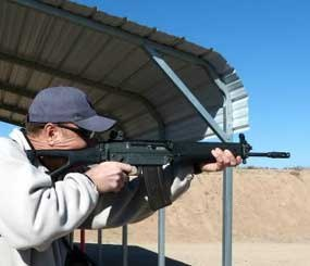 On the range, the SIG 551A1 handled nicely and there were no malfunctions of any kind while firing a mix of factory and reloaded ammunition. As can be expected with a rifle chambered in .223 Remington, recoil was mild and the rifle was easy to keep on target. (PoliceOne Image)