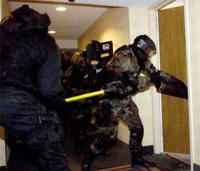 SWAT teams from Southern New Jersey police departments are undergoing special training at Trump World's Fair Casino in Atlantic City, N.J. (AP Image)
