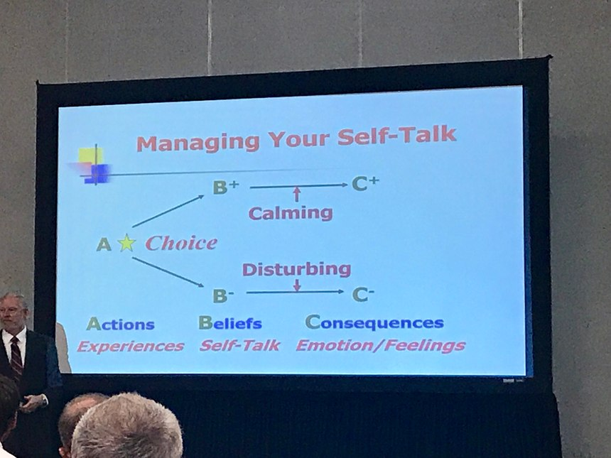 Manage your self talk to reduce stress and symptoms of PTSD.