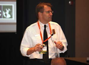 Photo Jamie ThompsonChief Prziborowski speaks during a session at FRI.