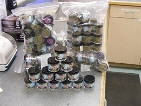 This photo released by the McMinnville Police Department shows seized synthetic cannabinoids. The drugs, sold as incense under names including Spice, K2 and Yucatan Fire, are banned in the state of Oregon.