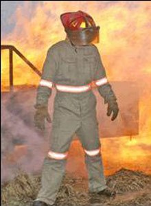 Photo Courtesy Ashburn Hill Corp.TECGEN XTREME is single layer turnout gear for non-structural fires, which provides three times the total heat loss of standard turnout gear.