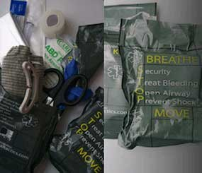 The Trauma Rapid Intervention Kit can fir in cargo pants or a squad car to provide the right tools when every second counts.