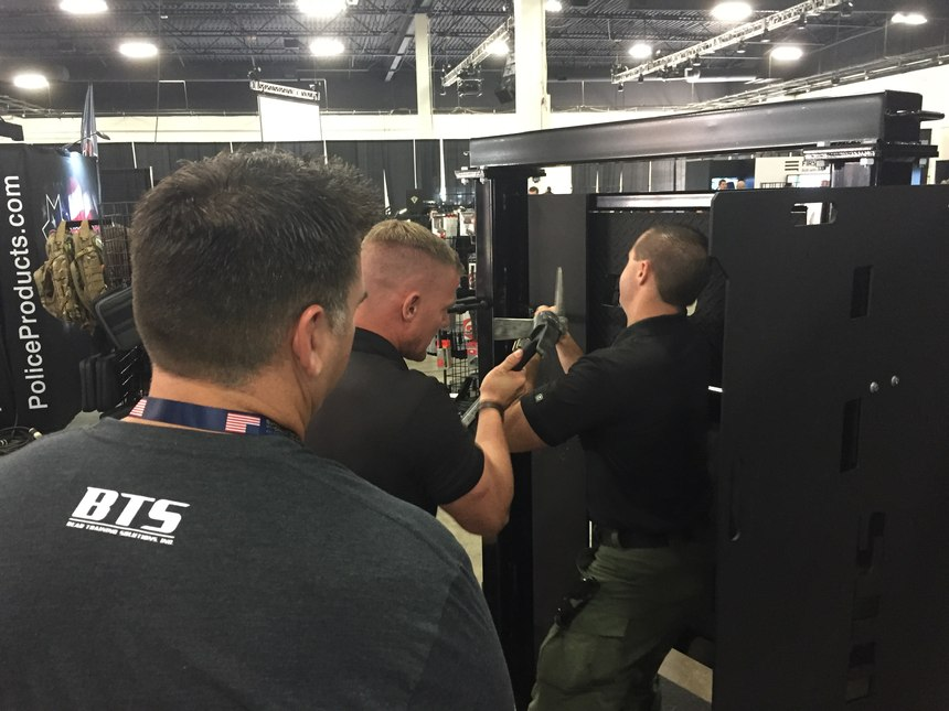 The Tactical Door from Bear Training Solutions breaks down into five parts for easy transport to training venues.