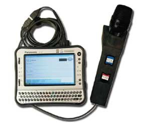 Called the TransTalk Project, a five-year program conducted by DARPA — the Defense Advanced Research Projects Agency — the software was originally run on ruggedized laptops like Panasonic Toughbooks and then on Ultra-Portable type laptops such as the Panasonic U1 UMPC. Image courtesy of Raytheon)
