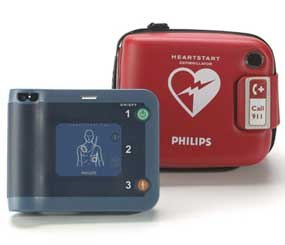 Philips Automated External Defibrillators. (Photo courtesy Philips)