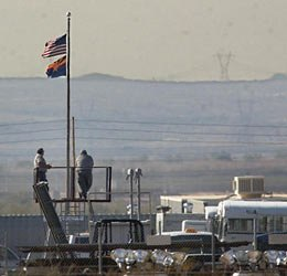 Officer's overlooking the yard at theArizona State Prison Complex - Lewis (AP photo)