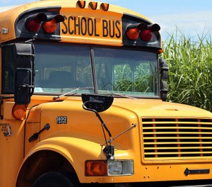 The bus pulled over for assistance a the high school where paramedic were called to treat the students. (Photo/Pixabay)