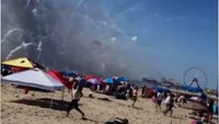 Video: Fireworks accident on Maryland beach injures several people