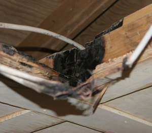 The NFPA estimates that all structural fires involving electrical failure or malfunction kill more than 400 people a year, with over 1,200 injuries and a direct loss in property of over $1 billion. (Photo/DoD)