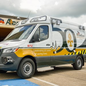 Acadian Ambulance uses forward operating bases so employees have a place to sleep, shower and eat between responses in the aftermath of Hurricane Ida.