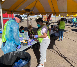 In January,  Medical Center Health System collaborated with city government officials to hold mass vaccination drive-throughs at Ratliff Stadium in Odessa, Texas.