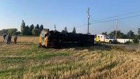 School bus overturns in fatal MVC