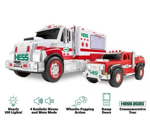 Hess has released its first-ever ambulance toy, the 2020 Ambulance and Rescue set equipped with nearly 100 flashing lights and siren sound effects.
