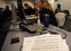 The Washington state Department of Health set up a hotline after the country's first novel coronavirus case was diagnosed in January, but the call center was overwhelmed as the epidemic spread. Image: Ellen M. Banner/The Seattle Times
