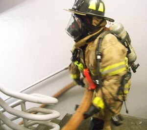 With a few phone calls to management, you can usually get permission to run dry hoselines in high-rise apartment buildings. Even without charging lines, your crews can get a good sense of the challenges involved with stretches on the upper floors. (Photo/Chris DelBello)