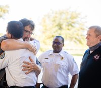 Man reunites with rescuers after bus crash left him paralyzed