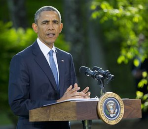 In a Thursday, May 14, 2015 file photo, President Barack Obama speaks during a news conference.