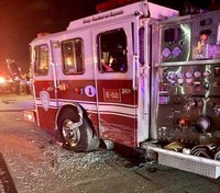 4 Houston FFs injured after car strikes engine