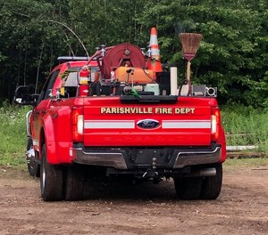 A Parishville Volunteer Fire Department firefighter-EMT was critically injured in a crash while responding to a call in his personal vehicle Tuesday. (Photo/Parishville Volunteer Fire Department Facebook)