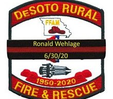The De Soto Rural Fire Protection District announced the sudden death of Lt. Ron Wehlage, 40, at his home this week. (Photo/De Soto Rural Fire Protection District Facebook)