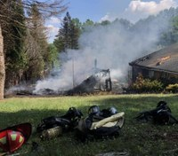 Several FFs suffer heat exhaustion at Pa. blaze