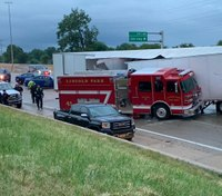 2 Mich. FFs injured when semi crashes into engine on interstate