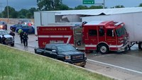 2 Mich. FFs injured when semi crashes into engine on interstate