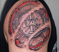 22 awesome firefighter tattoos