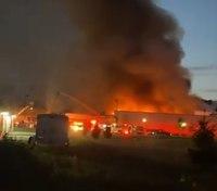 2 Pa. FFs injured battling major fire at steel plant
