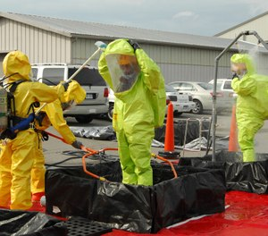 All firefighters should have awareness level hazmat training and preplan information regarding identified locations of radioactive material within their response area. (Photo/DoD)