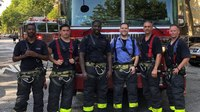 FDNY crew rescues 4 from 8th-floor apartment blaze