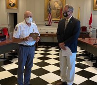 NJ volunteer EMT recognized for 60 years of service