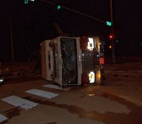 3 Ill. FFs hurt in engine rollover after collision with alleged DUI driver