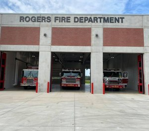 """Rogers Fire Chief Tom Jenkins told KNWA that """"we are aware of his arrest. He's been placed on paid administrative leave pending the results of the criminal and internal investigation."""""""