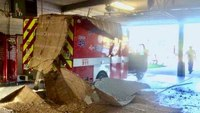 Ceiling collapses on ambulance at Houston fire station