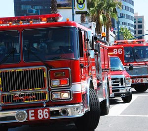 The Los Angeles city firefighters' union has agreed to delay pay raises for 18 months to avoid potential layoffs as the city faces an estimated $675 million budget shortfall.