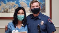 Paramedic recognizes X-ray technician for saving child's life