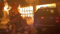 Conn. FF injured battling garage blaze