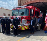 With $2 to spare, Texas city unveils custom fire truck