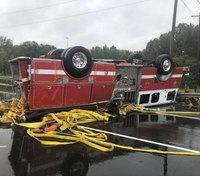 3 NC FFs injured in apparatus rollover