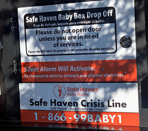 A healthy newborn was surrendered in a Safe Haven box at the Clarksville Fire Department station on Saturday. The box was first installed and opened to the public in October 2020.