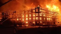 Texas FF hospitalized after massive fire at construction site