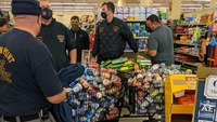 Ind. FFs participate in $13K grocery shopping spree for in-need families